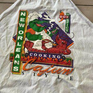 Vintage Cooking Apron New Orleans - Alligator vtg